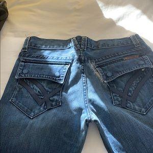 William Rast straight leg distressed jeans